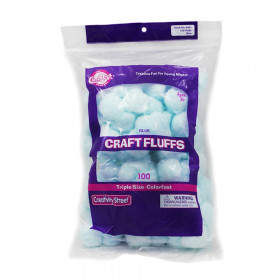 "Triple Size Craft Fluffs, Blue, Approx. 1"", 100 Pieces"