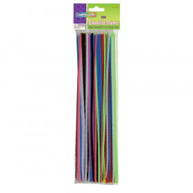 "Regular Stems, Assorted Colors, 12"" x 4 mm, 100 Pieces"