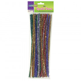 "Jumbo Sparkle Stems, Assorted Colors, 12"" x 6 mm, 100 Pieces"
