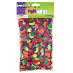 """Pom Pons, Color Splash, 1"""", 100 Pieces"""