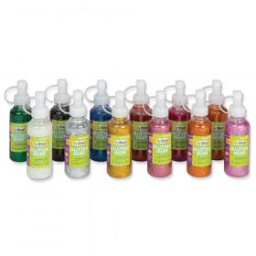 Glitter Glue, Assorted Sparkling, 4 fl. oz., 12 Bottles