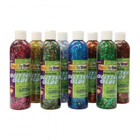 Glitter Glue, Assorted Confetti, 8 fl. oz., 8 Bottles