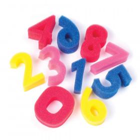 """Paint Sponges, Numbers Set, 3"""", 10 Pieces"""