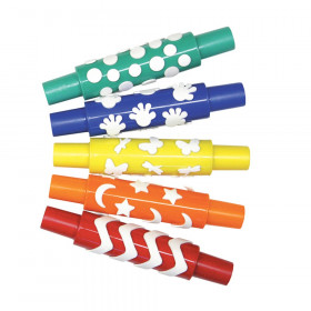 "Plastic Pattern Rollers, Assorted 5 Patterns, Approx. 8"", 5 Pieces"
