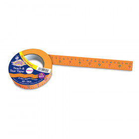 Teach and Tear Tape, Measuring Tape, 60 Yards, 1 Roll
