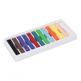 "Square Artist Pastels, 12 Assorted Colors, 2-3/8"" x 3/8"" x 3/8"", 12 Pieces"