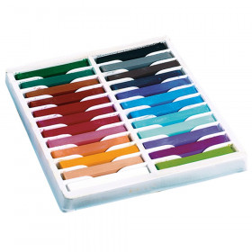 "Square Artist Pastels, 24 Assorted Colors, 2-3/8"" x 3/8"" x 3/8"", 24 Pieces"