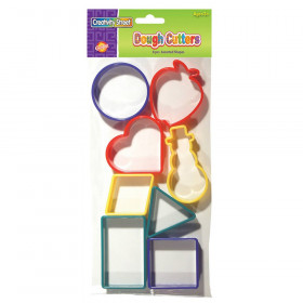 """Dough & Clay Cutter Set, 8 Geometric Shapes, 1.75"""" to 2.25"""", 8 Pieces"""