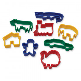 "Dough & Clay Cutter Set, 8 Animal Shapes, 2.5"", 8 Pieces"