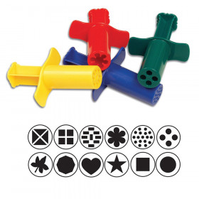"""Dough Extruders, 12 Assorted Patterns, Approx. 3"""", 12 Pieces"""