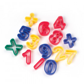 "Dough & Clay Cutter Set, Numbers & Math Symbols, 1-9/16"", 14 Pieces"