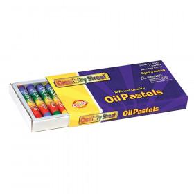 "Oil Pastels, 12 Assorted Colors, 2.3"" x 0.3"", 12 Pieces"