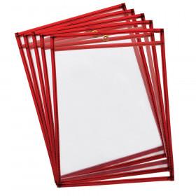 Reusable Dry Erase Pockets 10Pk Fluorescent Red
