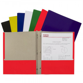 C-Line Recycled Paper Portfolio With Prongs Assorted, 1EA
