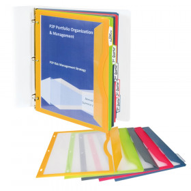 C-Line Binder Pockets with Write-On Tabs, Set of 5
