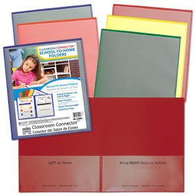 Classroom Connector School-To-Home Folders, Assorted Colors, Pack of 36
