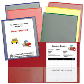 Classroom Connector School-To-Home Folder, Assorted Colors, Pack of 6