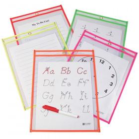 Reusable Dry Erase Pockets 10/Pk