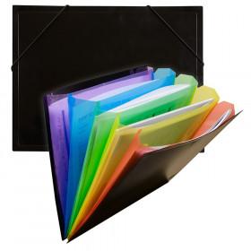 C-Line Rainbow Document Sorter, Black/Multicolor