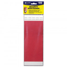 C Line Dupont Tyvek Red Security Wristbands 100Pk
