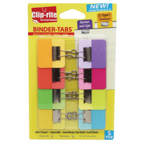 Binder-Tabs with Small Clips, Pack of 8, Assorted Colors