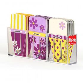 Small Daisy Clip Tabs Purple Yellow
