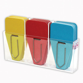 Solid Clip-Tabs, Pack of 24, Red/Blue/Yellow