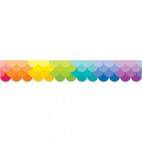 Ombre Rainbow Scallops Borders (Paint)
