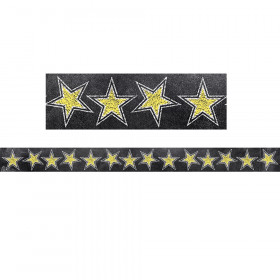 Gold Stars Borders (Chalk)