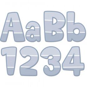 "Painted Palette Slate Gray Paint Chip 4"" Designer Letters"