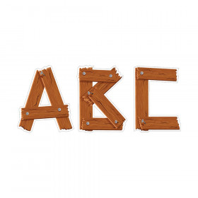 "Timber 5"" Uppercase Designer Letters, 106 Pieces"