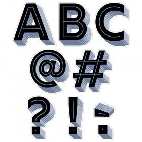 Black 3D Punchout Uppercase Letters