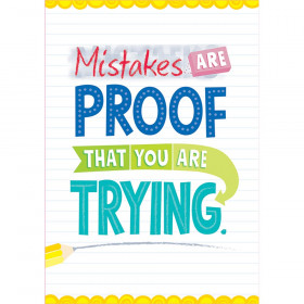 Mistakes are proof... Inspire U Poster
