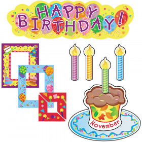 Birthdays Mini Bulletin Board Set