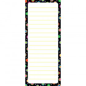 Dots On Black Note Pad