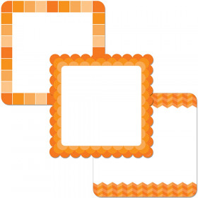"Painted Palette Orange Chart Cards 10"" Designer Cut-Outs"