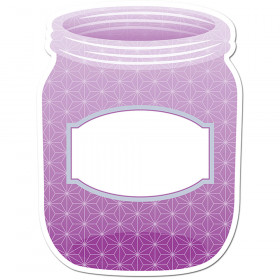 "Painted Palette Purple Mason Jar 10"" Designer Cut-Outs"