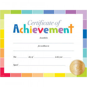 Painted Palette Certificate of Achievement Large Award