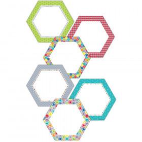 """HexaFun Hexagons 6"""" Designer Cut-Outs"""