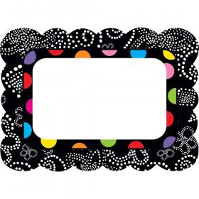 Festive Dots Name Tags