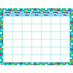 Dots on Turquoise Calendar Poster Chart