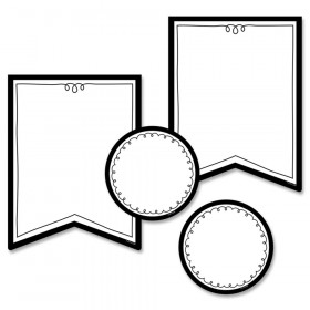 Pennants 6 Inch Designer Cut-Outs, Pack of 48