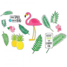 Palm Paradise Flamingo Fun Bulletin Board Set