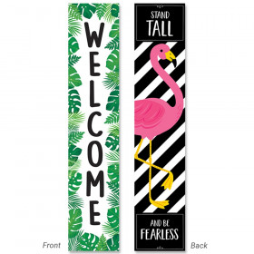 Palm Paradise Welcome Double-Sided Banner