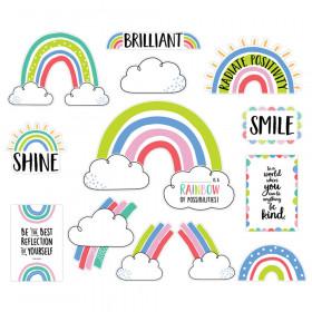 Rainbow Doodles Doodly Rainbows Bulletin Board Set