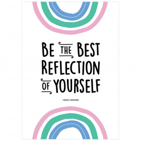 Be the best reflection of yourself Rainbow Doodles Inspire U Poster