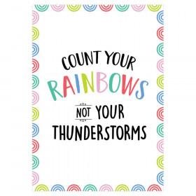 Count your rainbows... Rainbow Doodles Inspire U Poster