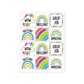 Rainbow Doodles Reward Stickers, Pack of 60