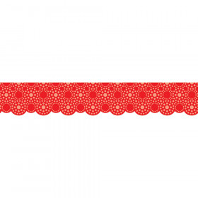 Lots Of Dots Red Shapes Border