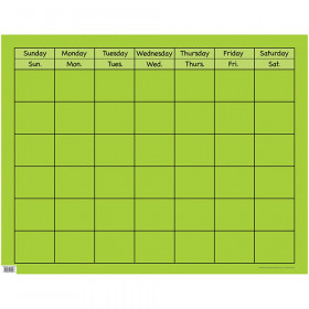 Lime Green Large Calendar Chart